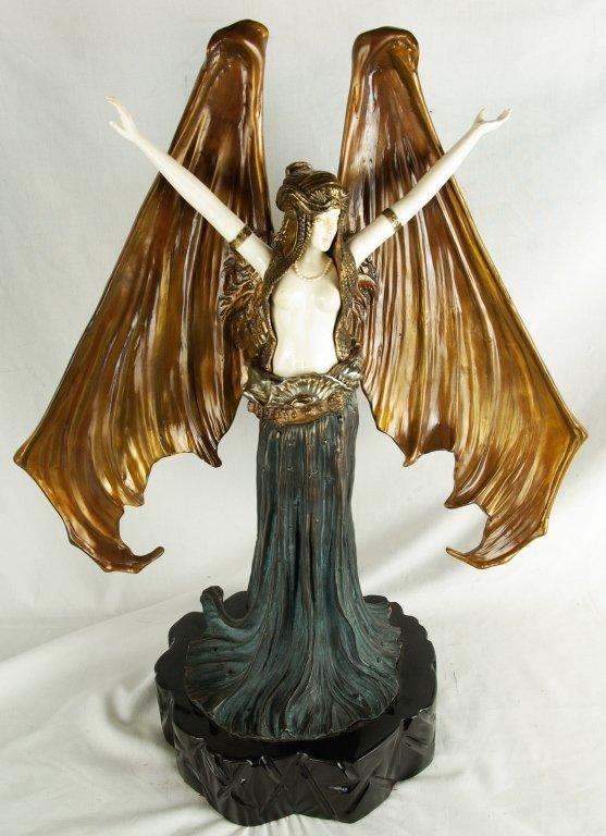 "A. Leonard ""Batwoman"" Art Deco Sculpture"
