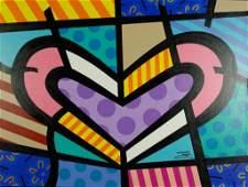 "Jozza ""Heart"" Original Oil, Hand Signed (Pop Art)"