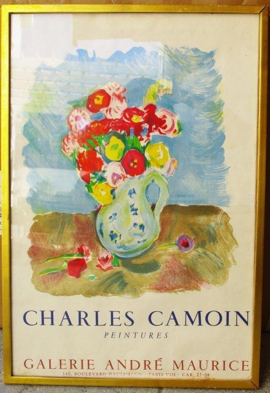 Charles Camoin framed Vtg Poster