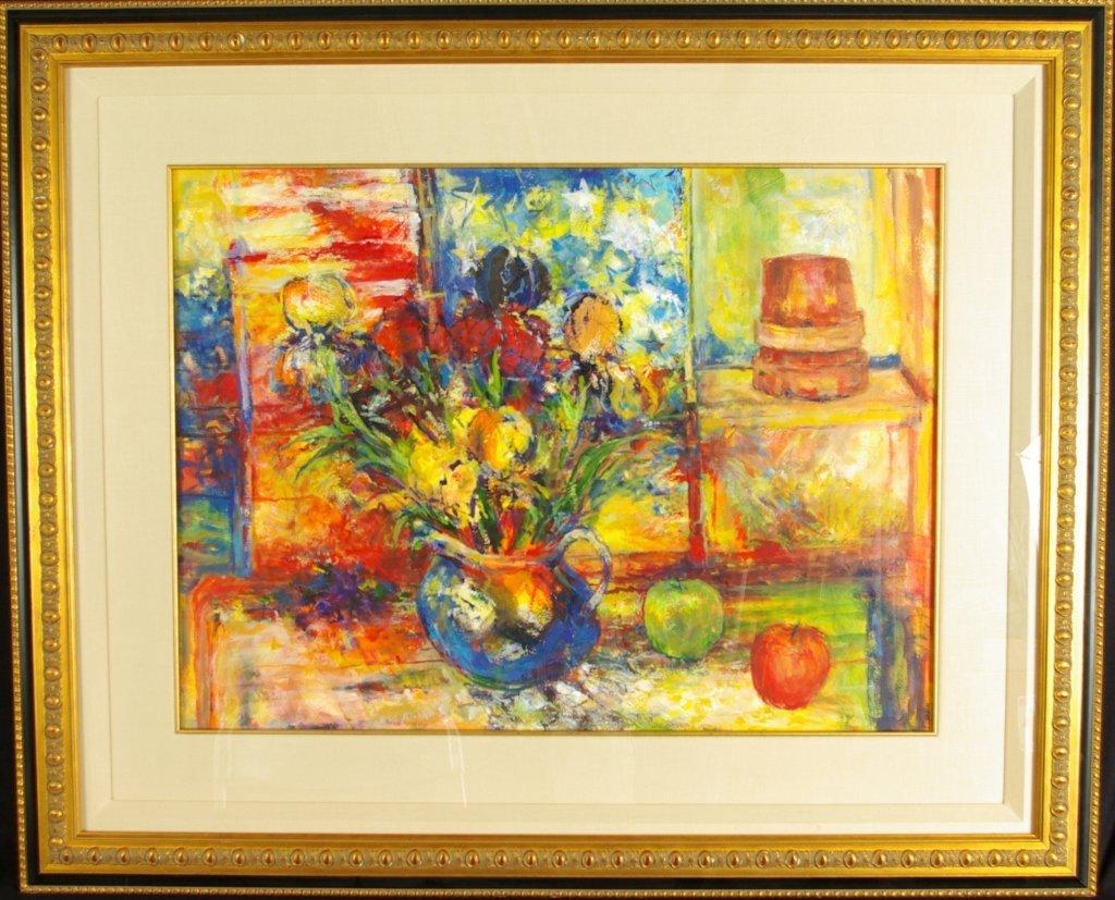 "Russ Marshall ""Bright & Joyful"" Orig Oil Hand Sign"
