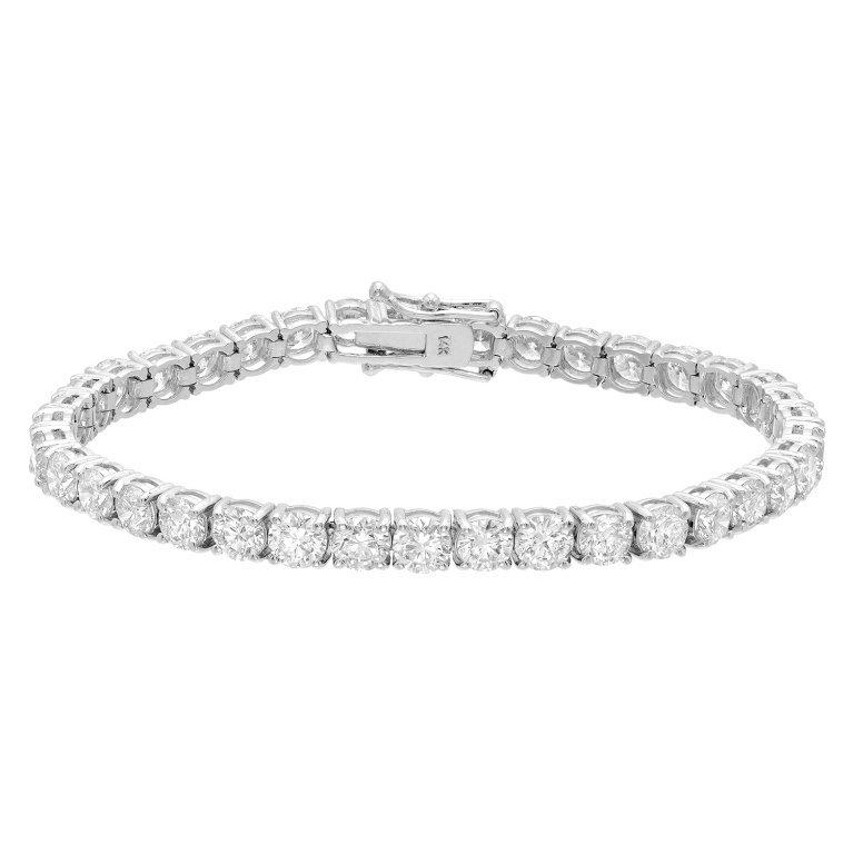 14.21 Carat Diamond Bracelet in White Gold
