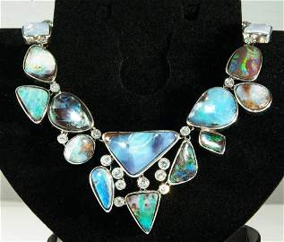 85.05 ct Diamond and Opal Necklace