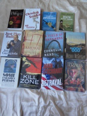 12 AUTHOR HAND SIGNED BOOKS