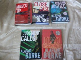 12: 5 AUTHOR HAND SIGNED BOOKS BY ALAFAIR BURKE