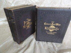 COMPLETE WORKS OF LONGFELLOW 3 VOL. DATED 1879