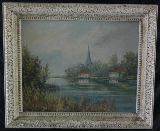 2: Early 20th Century Oil on Canvas Signed HV. HOLTEN