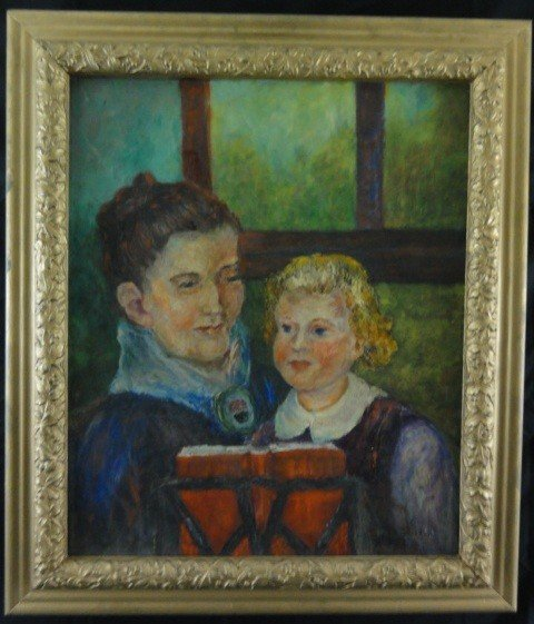 "3: ""Mary Cassatt""? Oil on Board Signed"