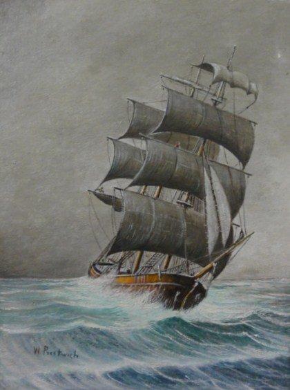 22: 20th C. Oil on Board W. Prestwich