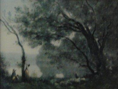 """30: Corot Print """"Souvrnir"""""""