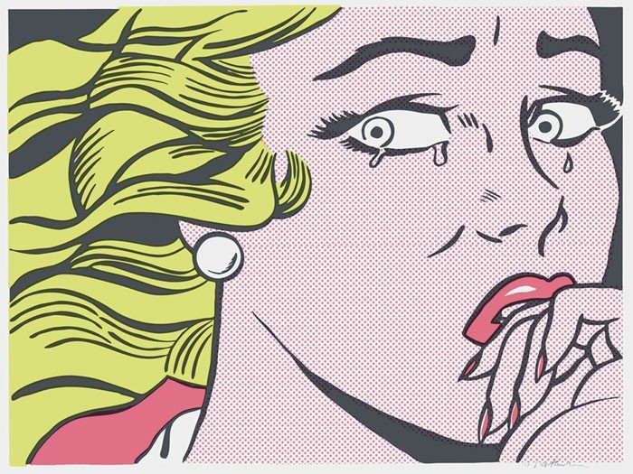 145: ROY LICHTENSTEIN Crying Girl, 1963