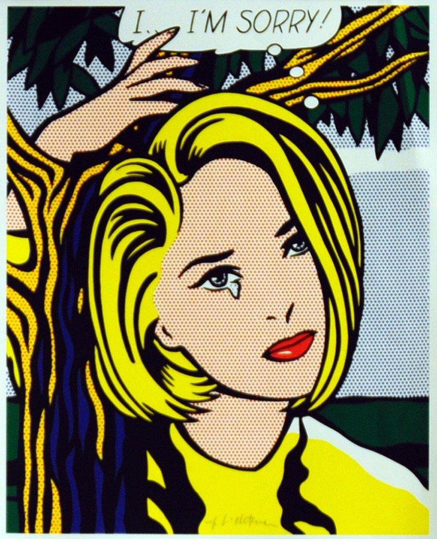 """135D: Roy Lichtenstein     I...I'm Sorry     """"Hand Sign"""