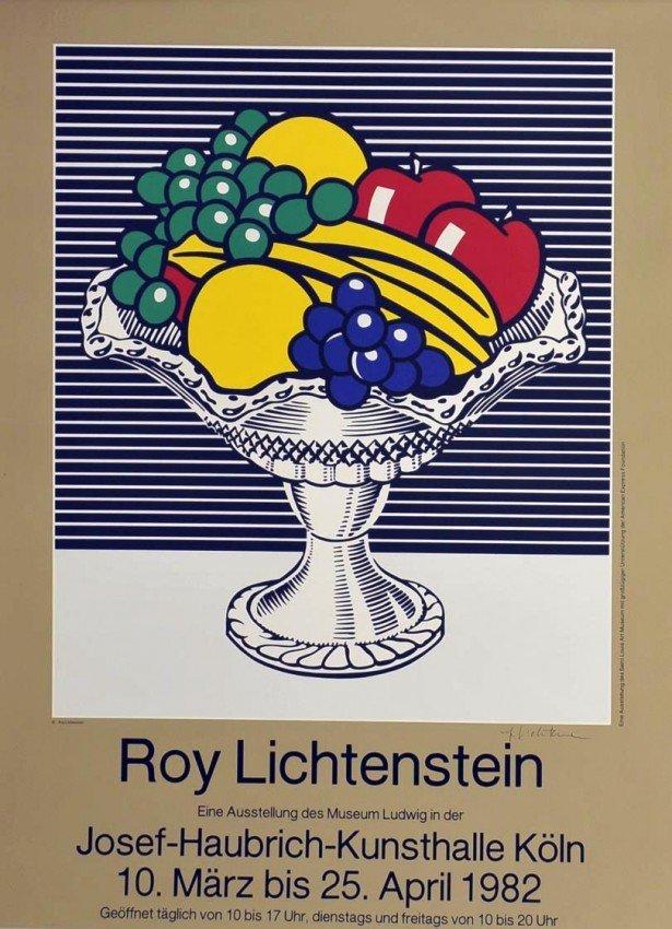 """105: Roy Lichtenstein STILL LIFE 1982 """"HAND SIGNED"""""""