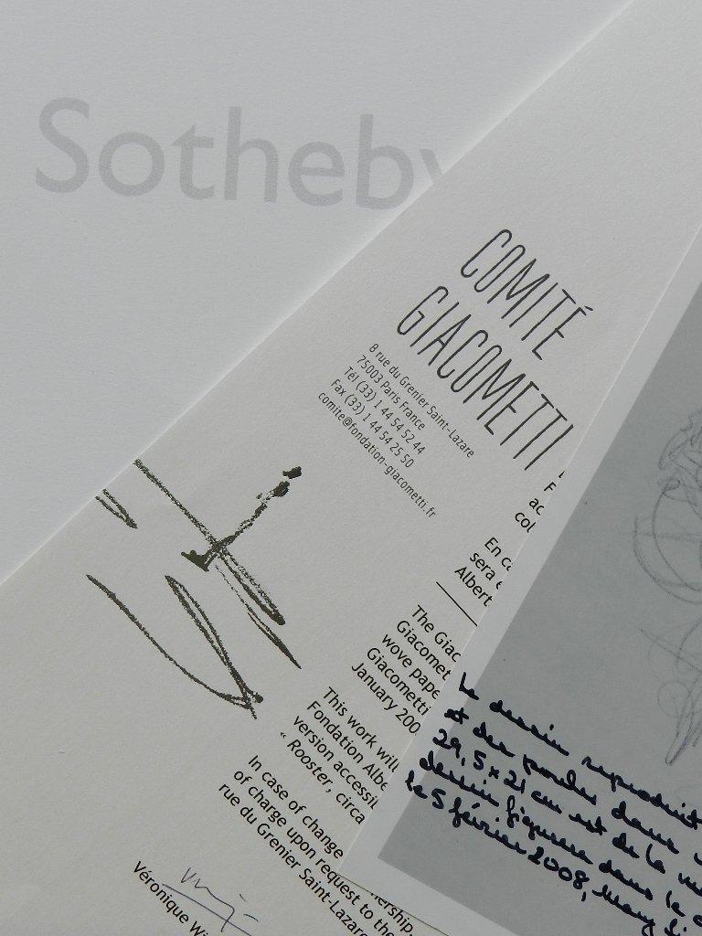 275: Alberto Giacometti (1901-1966) Graphite Drawing - 10