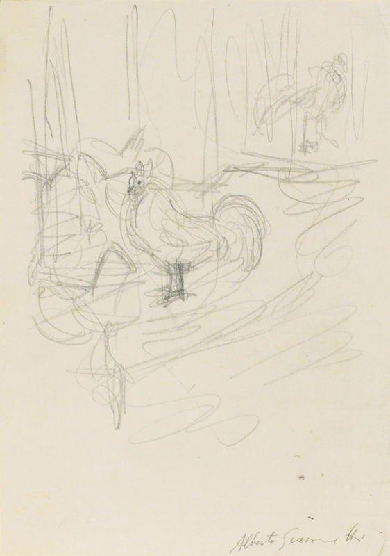 275: Alberto Giacometti (1901-1966) Graphite Drawing