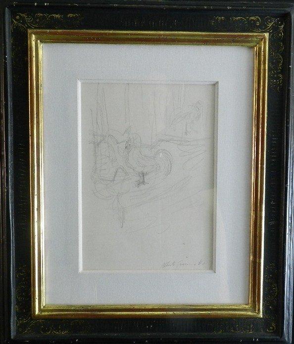 275: Alberto Giacometti (1901-1966) Graphite Drawing - 2