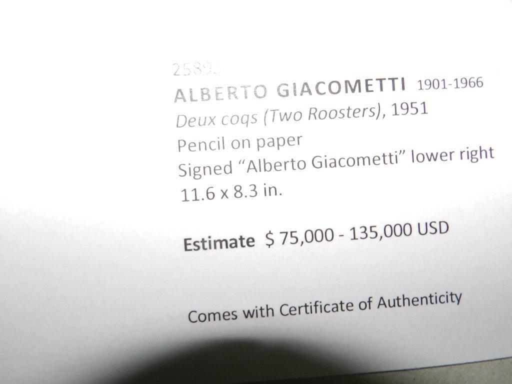 275: Alberto Giacometti (1901-1966) Graphite Drawing - 6