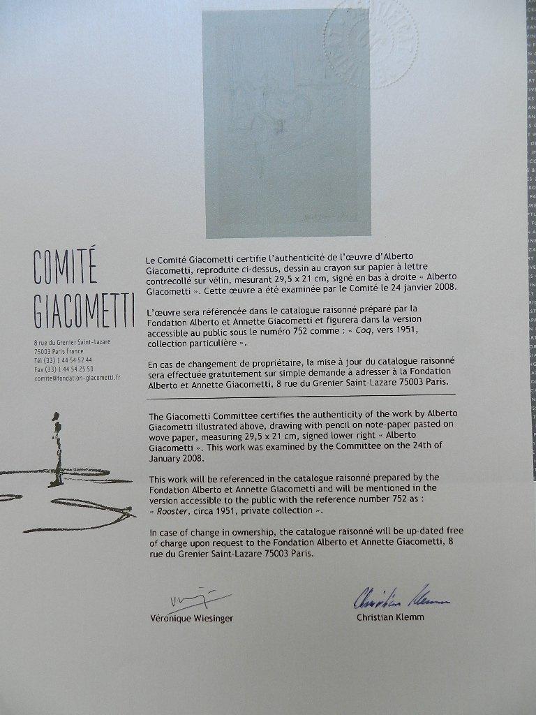 275: Alberto Giacometti (1901-1966) Graphite Drawing - 8