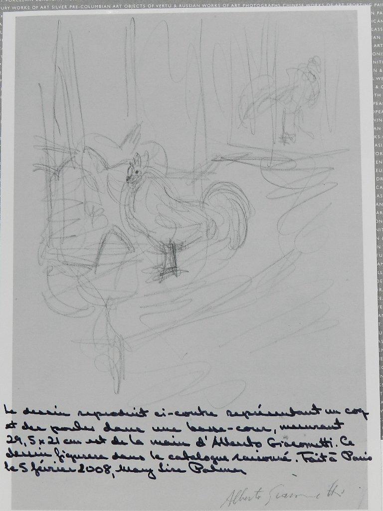 275: Alberto Giacometti (1901-1966) Graphite Drawing - 9
