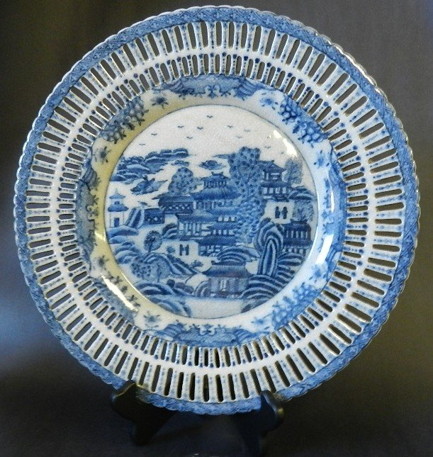 """108: Early 20th C. Oriental """"Village"""" Plate"""