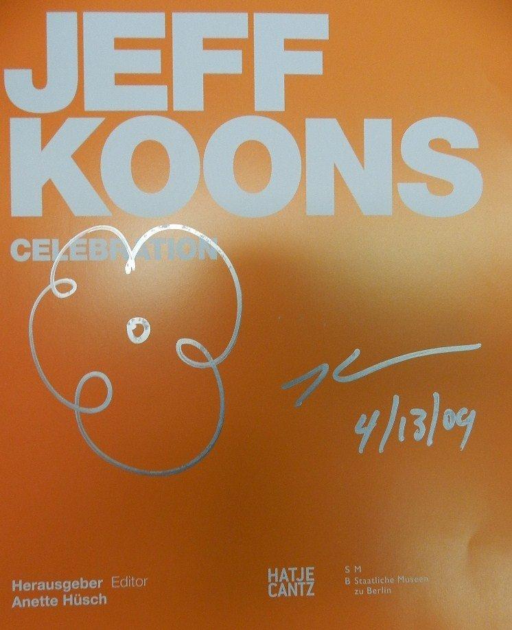 "86: Jeff Koons Original Flower Drawing ""Orange"""