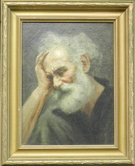 111: 19th C. Judaism Portrait Oil Painting