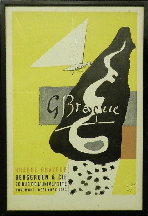 112: Georges Braque Exhibition Poster