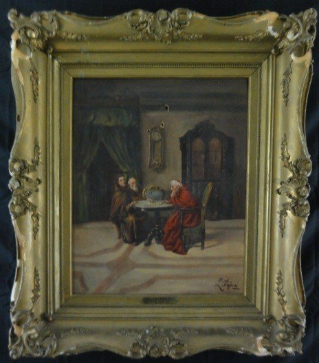 96: Early 19th Century Oil on Canvas L. Stefani