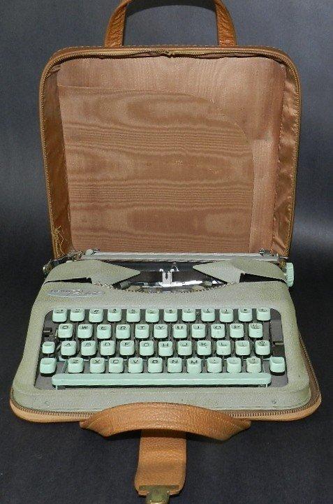 116: Hermes Rocket Typewriter W/Original Case