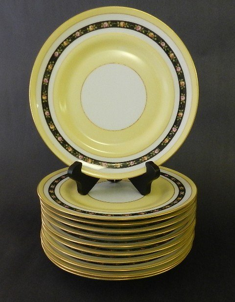 1: 11 M. REDON FRENCH LIMOGES SERVICE PLATES