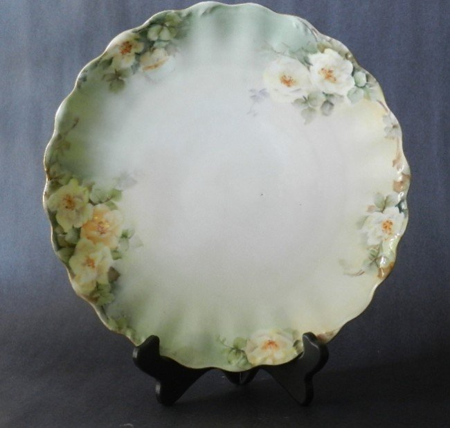 19: Limoges T&V Hand Painted Floral Plate