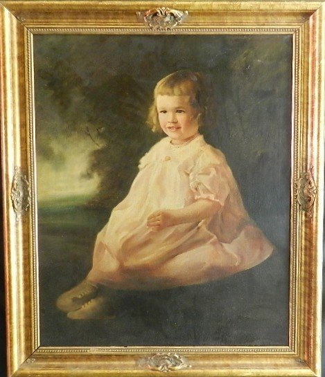 "20: Oil Painting ""Young Child"" Circa 19th c."