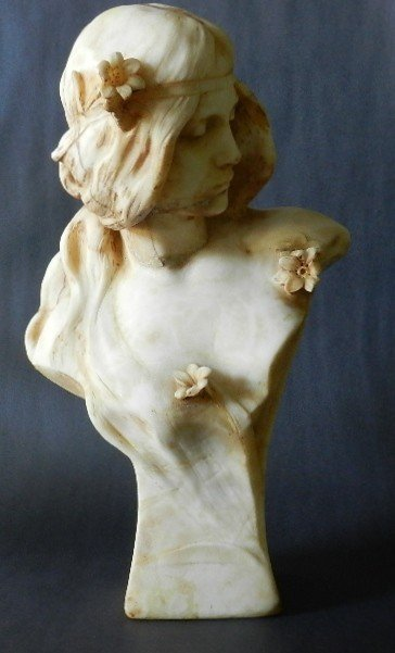 22: Marble Bust G. Besse. Circa 19th C.