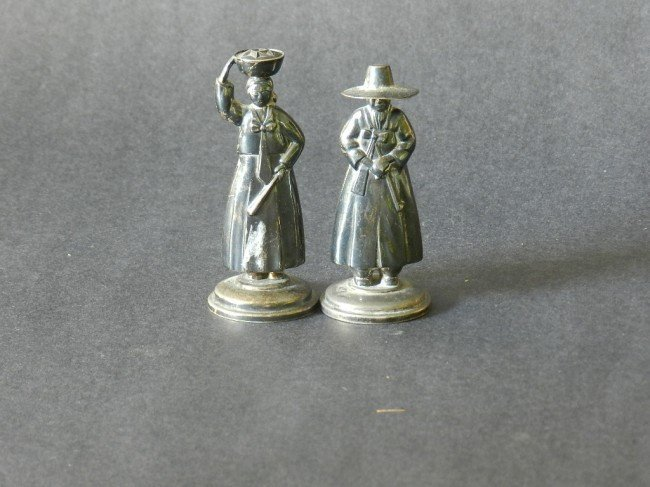 23: 20th c. (2) Sterling Silver Figurines