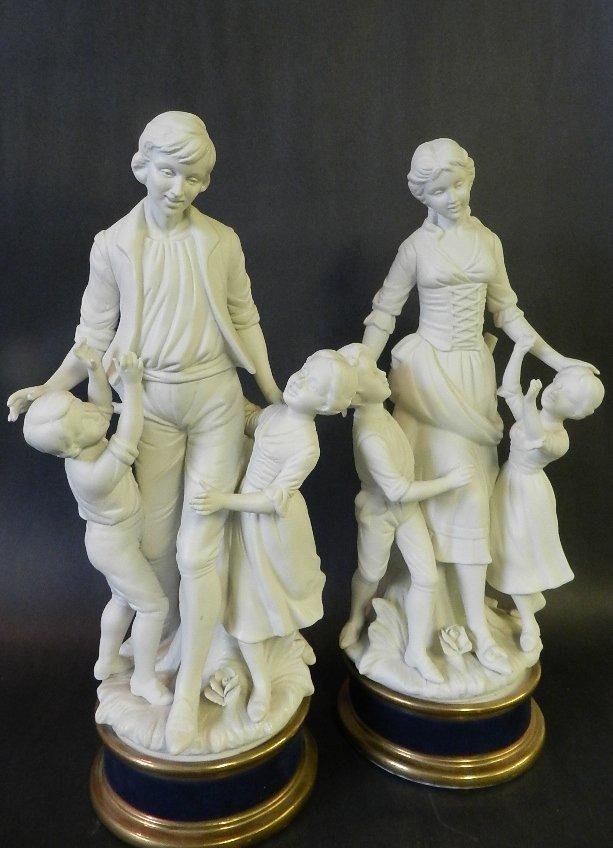 1: (2) 20th C. European Porcelain Figurines