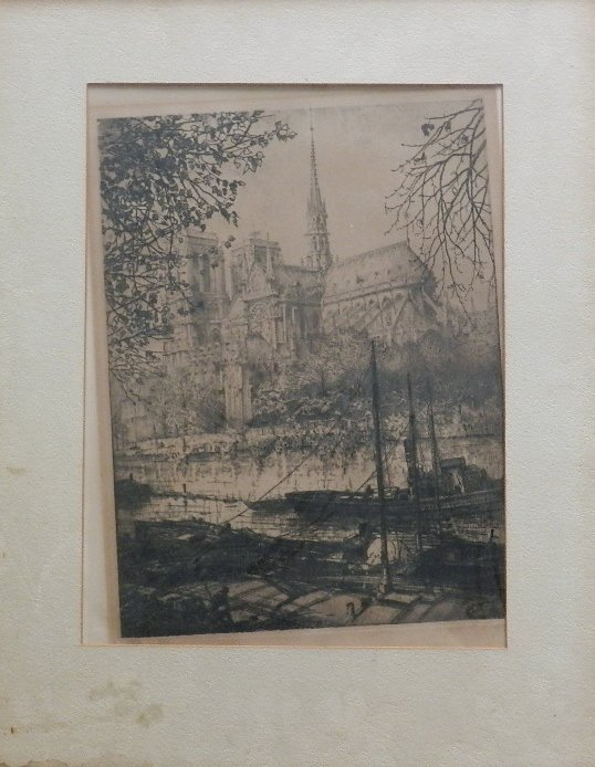 11: Robert Fulton Logan Etching Signed and Numbered