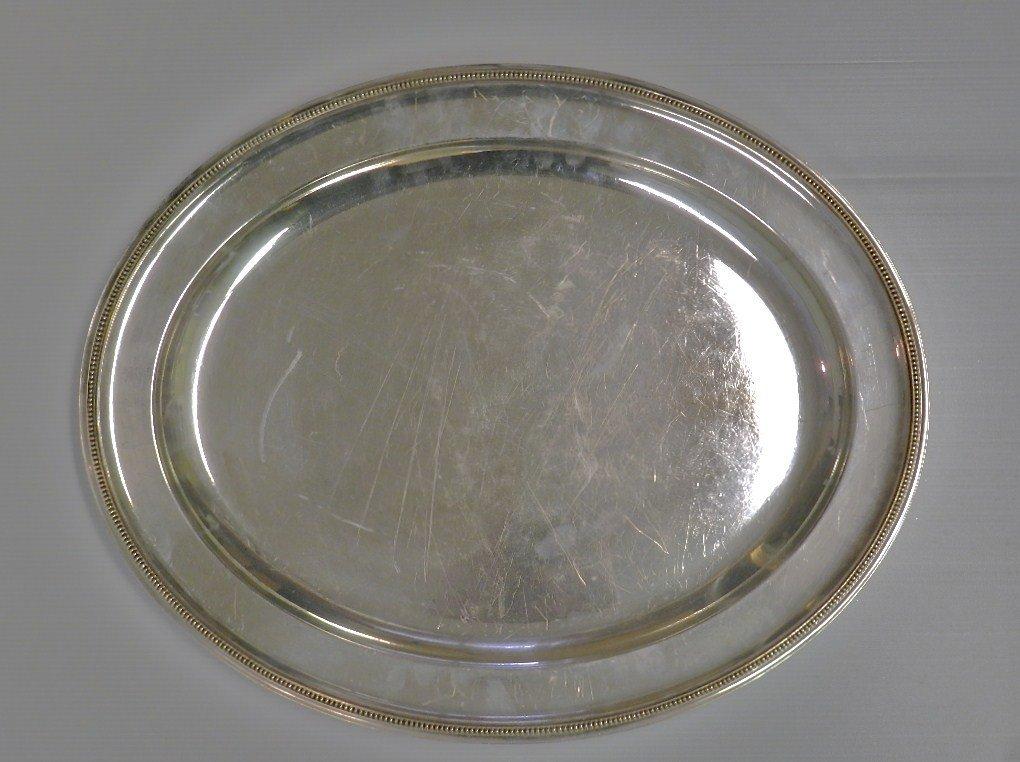 19: Elkington & Co. Silver Plated Oval Waiter