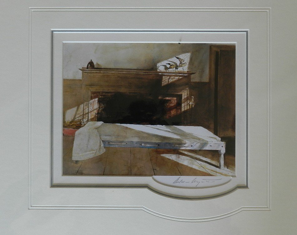 """1: Andrew Wyeth """"Maine Room"""" Pencil Signed"""