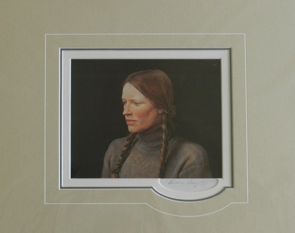 """2: Andrew Wyeth """"Braids"""" Pencil Signed"""