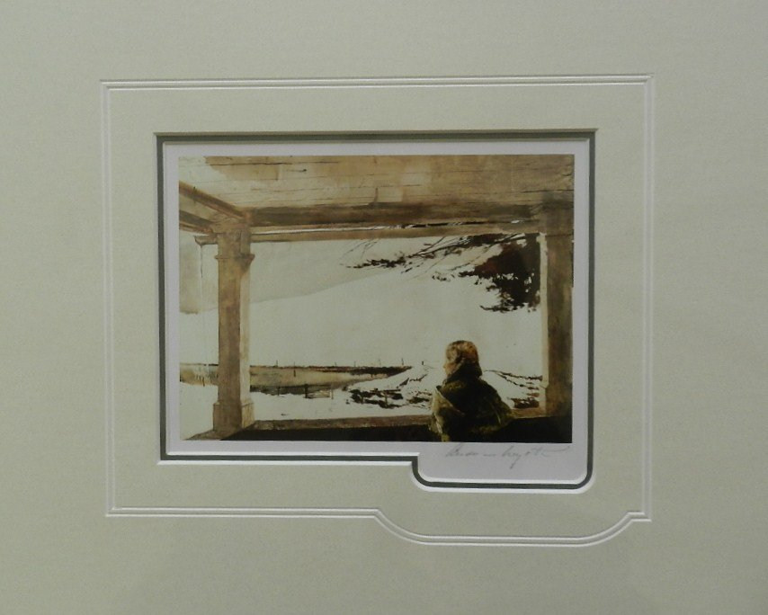 """3: Andrew Wyeth """"Easter Sunday"""" Pencil Signed"""