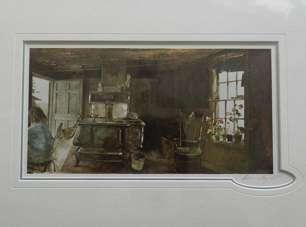 """7: Andrew Wyeth """"Wood Stove"""" Pencil Signed"""