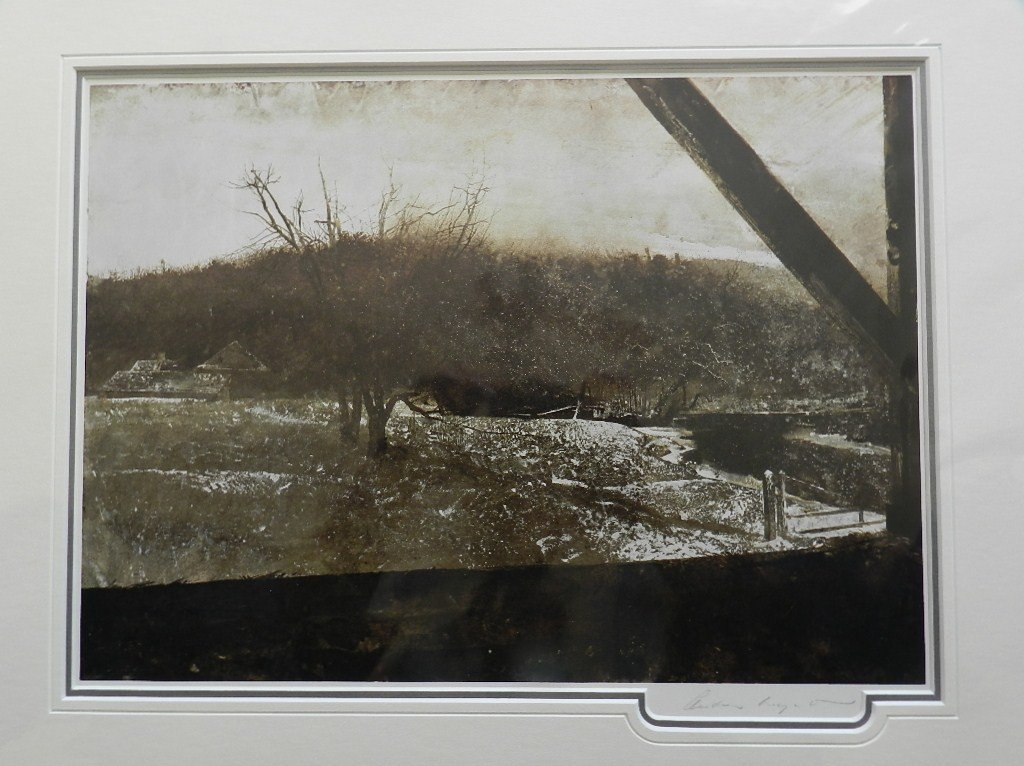 """8: Andrew Wyeth """"River Valley"""" Pencil Signed"""