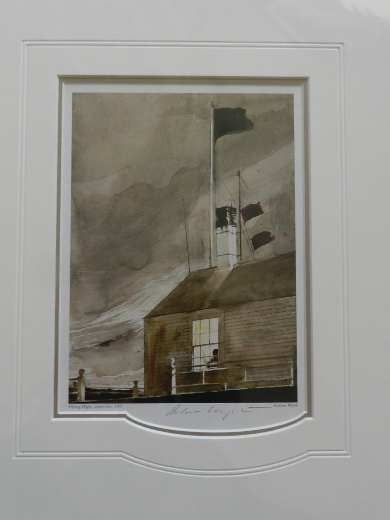 """10: Andrew Wyeth """" Flying High"""" Pencil Signed"""