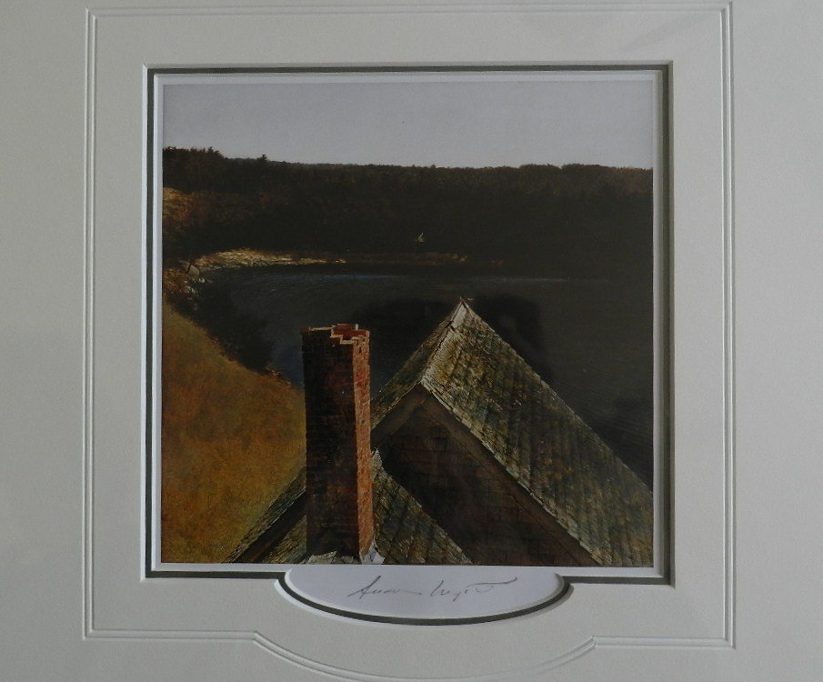 """12: Andrew Wyeth """" End of Olson's"""" Pencil Signed"""