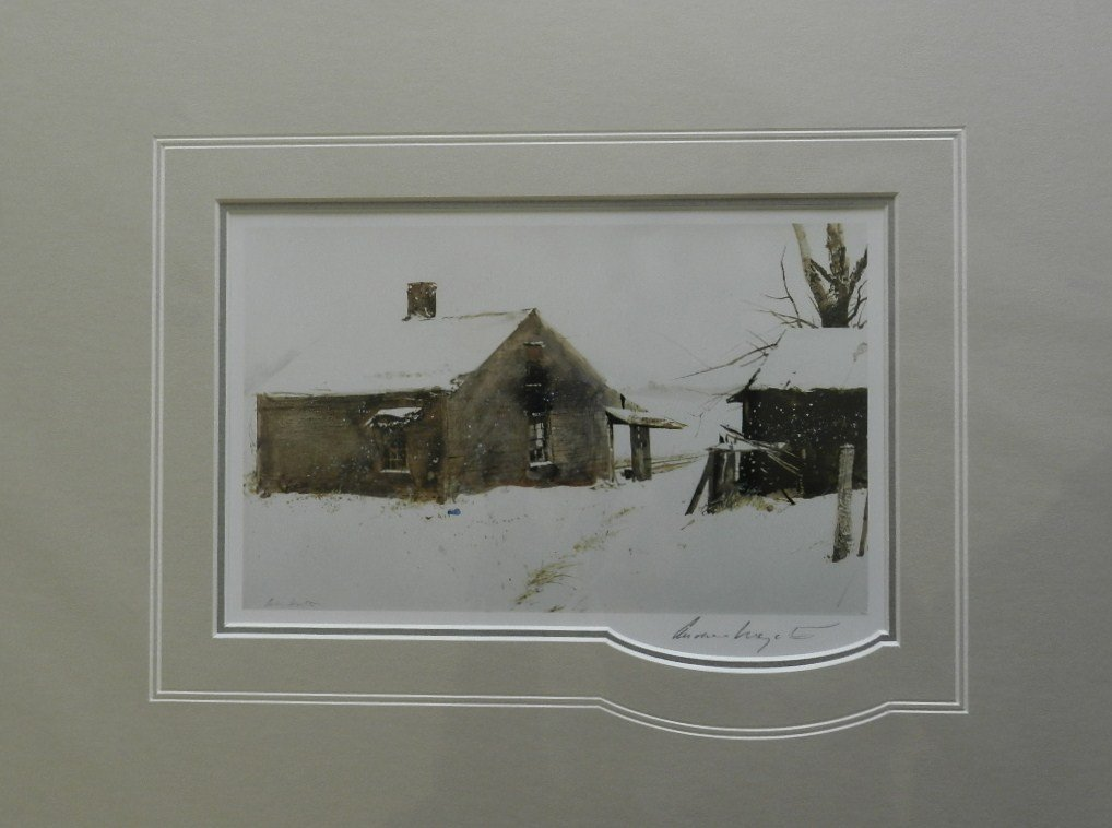 """13: Andrew Wyeth """"Cat Dish"""" Pencil Signed"""