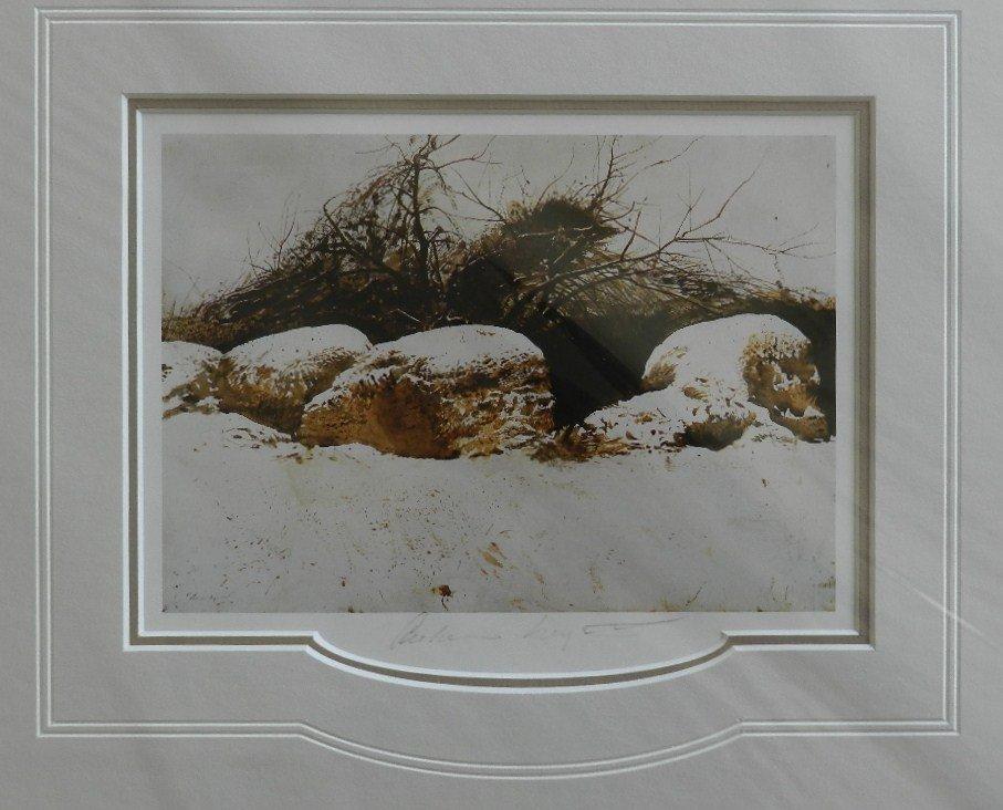 """15: Andrew Wyeth """"Shredded Whear"""" Pencil Signed"""