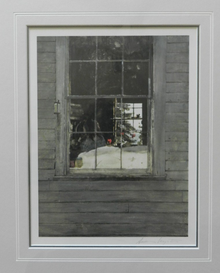 """16: Andrew Wyeth """"Geraniums"""" Pencil Signed"""