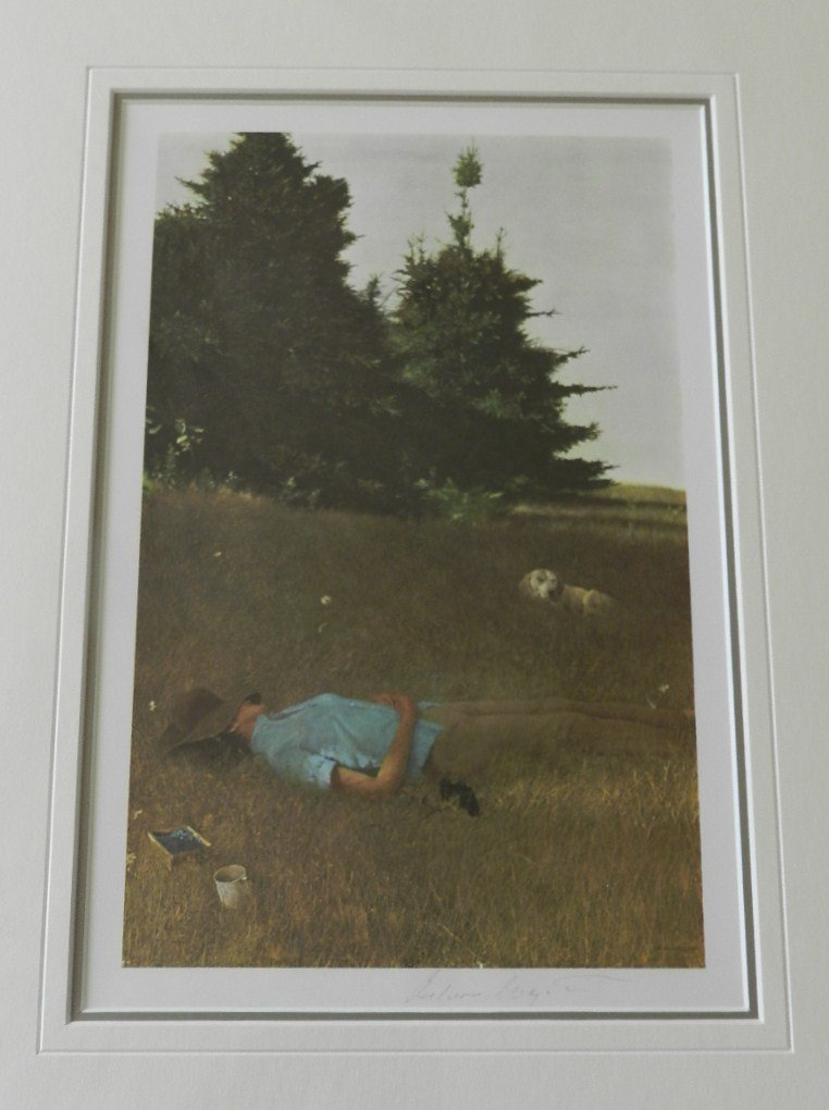 """17: Andrew Wyeth """"Distant Thunder"""" Pencil Signed"""