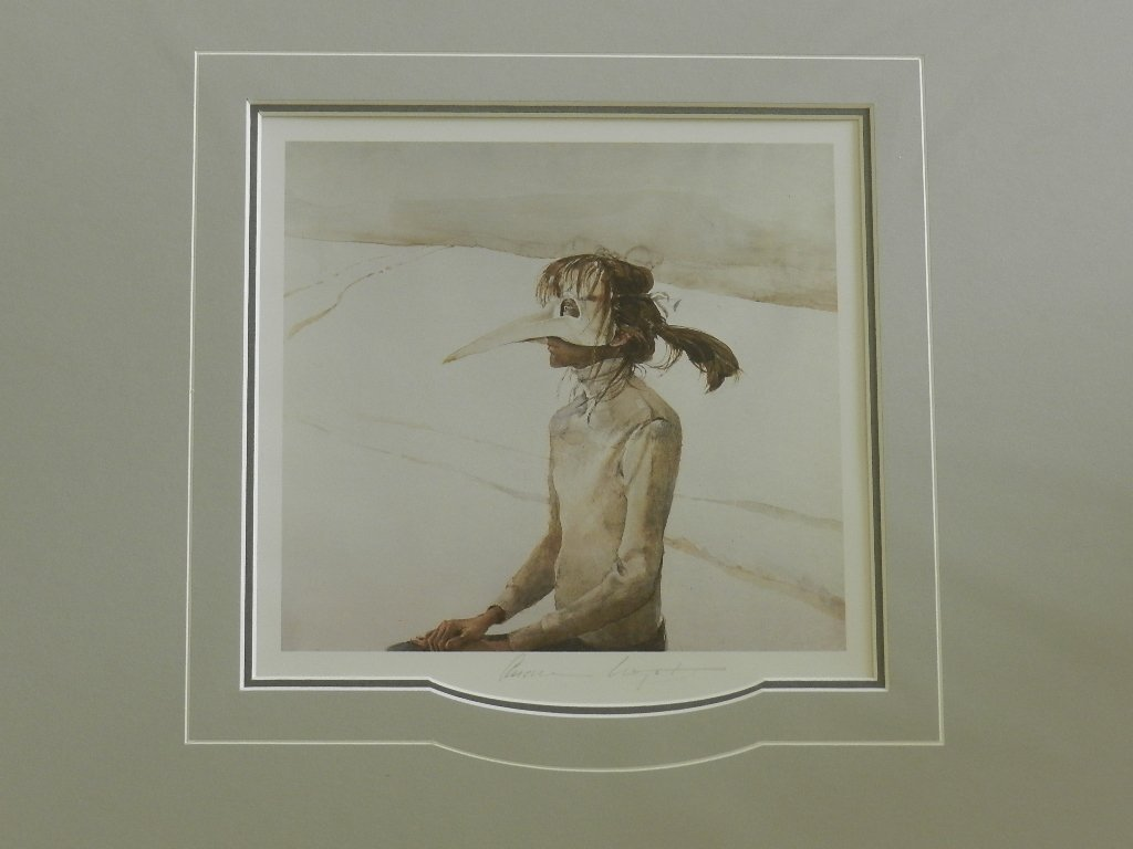 "42: Andrew Wyeth ""Winter Carnival"" Pencil Signed"
