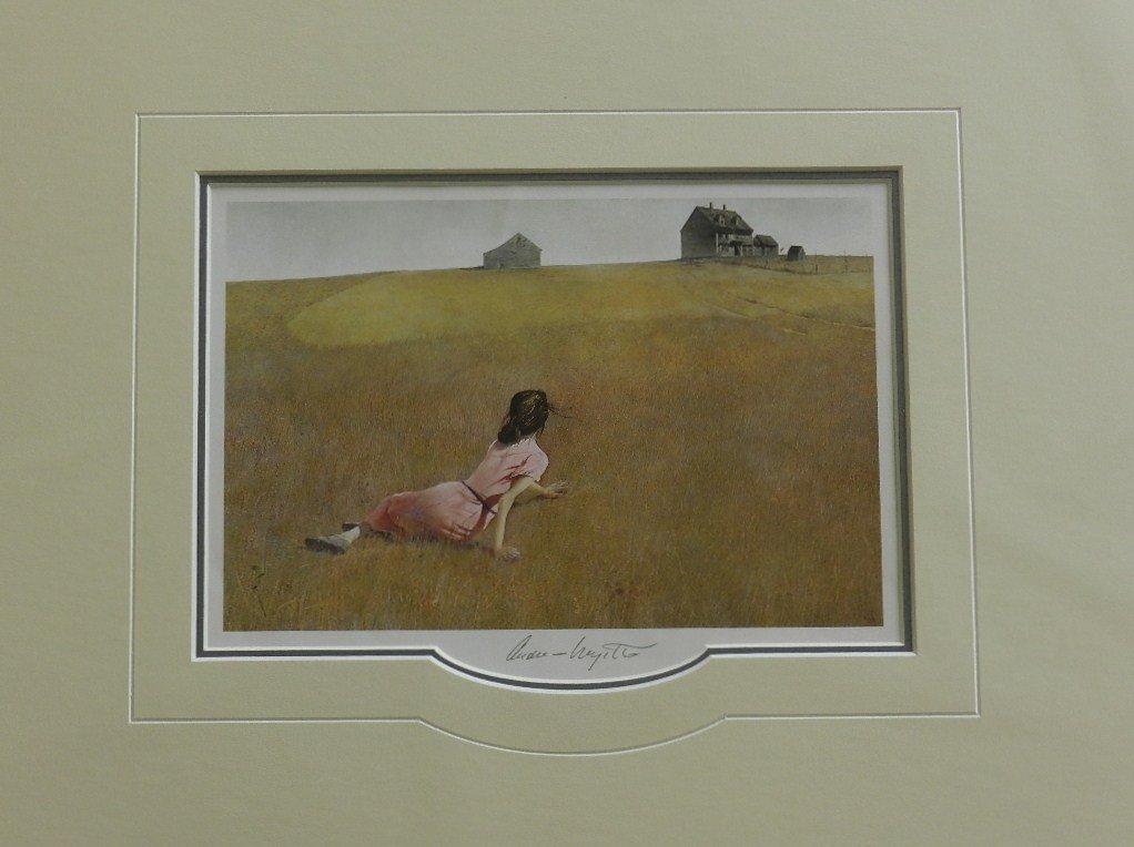 "53: Andrew Wyeth ""Christina's World "" Pencil Signed"