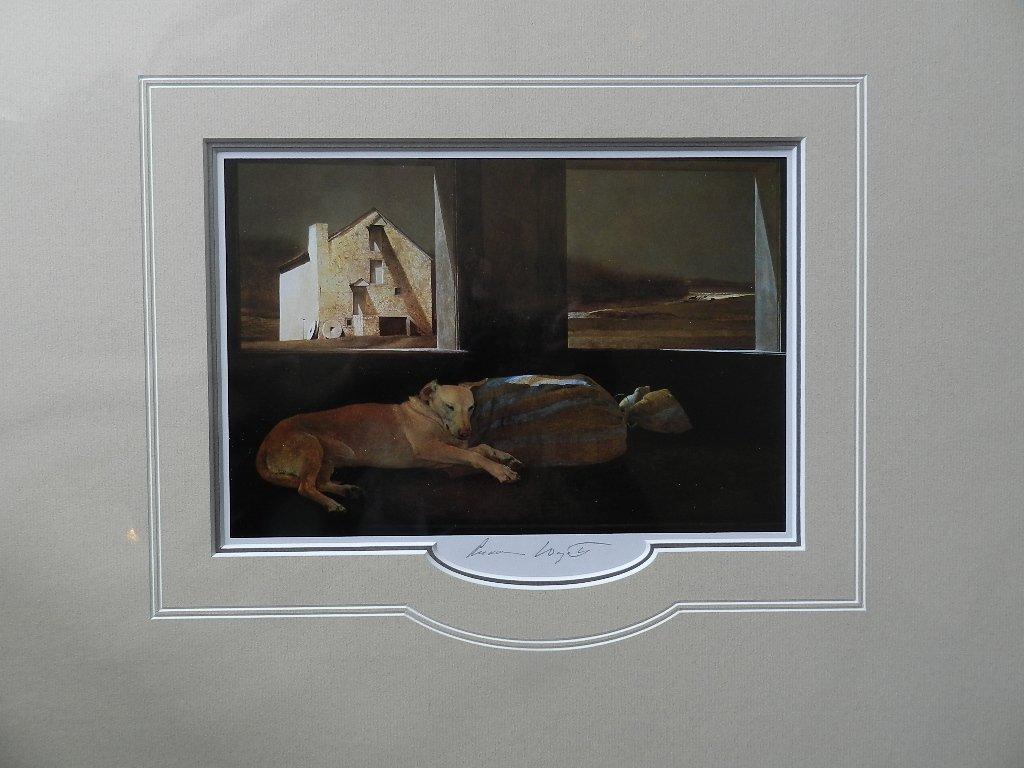 "62: Andrew Wyeth ""Night Sleeper"" Pencil Signed"